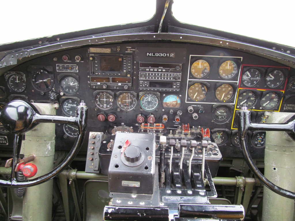B-17 Cockpit  B17 Cockpit